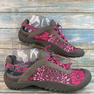 Jambu Robin Pink Gray Shoes with Bungee Laces